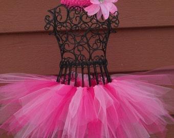 Pinkie Pie tutu- Pinkie Pie Birthday- Pink Ballerina tutu- Girls Pink Tutus--Pinkalicious tutu- Hot Pink tutu- Toddler tutu skirt-