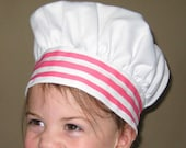Child/ Toddler Pink and White Stripe Chef Hat
