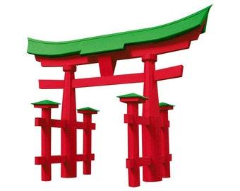 Torii Gate, assembled model