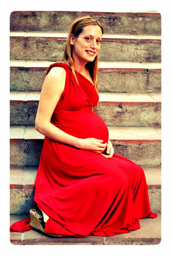 Maternity dress, maternity dresses, maternity red dress, floor length maternity gown, red maternity dress, maternity photo prop, baby shower