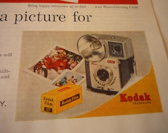 Vintage Ad - Brownie Camera from Kodak - Original ad from the 1960s