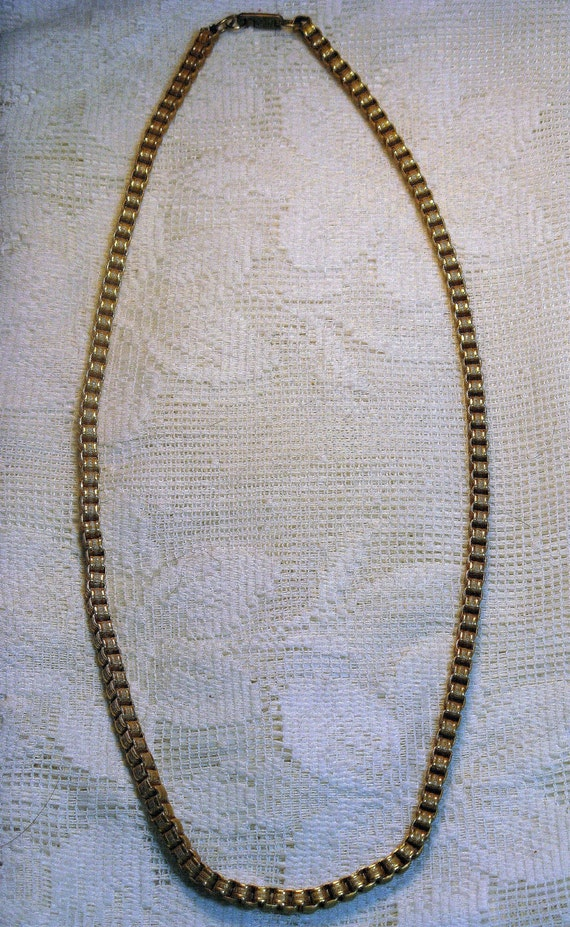 Vintage 1950s MIRIAM HASKELL 24k Russian Gold Plated Necklace (N-2-4)