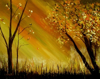 Swamp -     Original Abstract Landscape Painting
