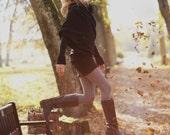 Black sweater | Designer sweater | Modern sweater | LeMuse black sweater