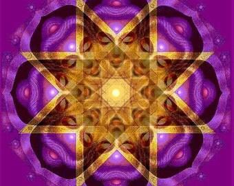 Buddha Meditation Art Zen Mandala spiritual poster Buddhist Buddhism print