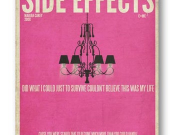 Side Effects / Mariah Carey / Lyric / DIGITAL Minimalist Typography Poster / Printable
