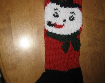 Christmas Snowman Stocking, Christmas Stocking, Christmas Stocking Personalized