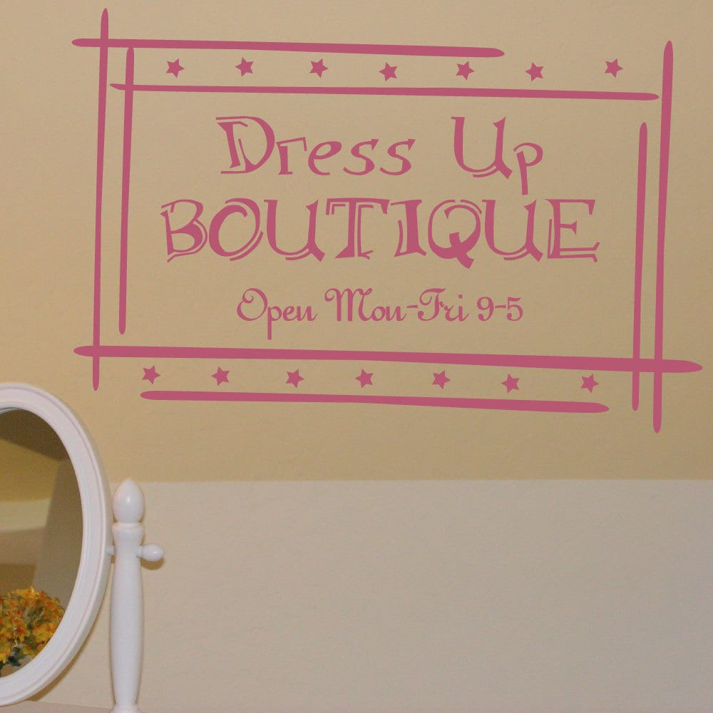 dress up boutique wall decal girl bedroom playroom decal