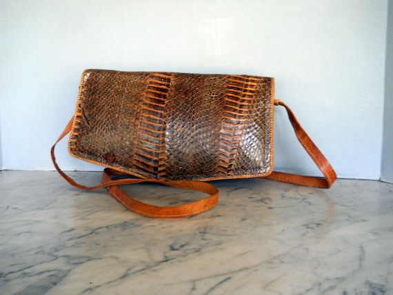 vintage SNAKESKIN SHOULDER BAG