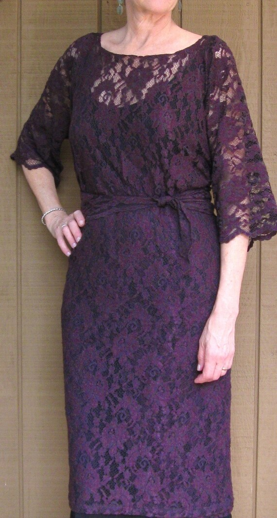 Lace Dress, Stretch Lace Wrap Around, any size, CUSTOM MADE