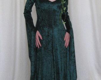 "Elvish Dress, Medieval Gown, Gothic Dress, Pagan Dress, Pre-Raphaelite Gown, Medieval Dress,Robe Elfique,Hand Fasting Dress ""Blythe"""