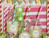 """Clear PLASTIC JARS,12 Plastic Milk Bottles w/ Lids,Lemonade,Favors,Party,8 oz """"Unbreakable"""" Drink Jar, Kid Cup, Birthday, Plastic Drink Jar"""