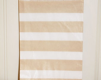 Favor Bags, 24 Ivory Cream Stripe Favor Bags, Candy Bags Vintage Wedding, Packaging Bags, Vintage Wedding Favor Bag, Party Favor Treat Bags