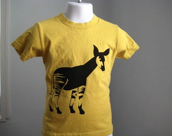 Okapi Kids T Shirt Organic Cotton Yellow