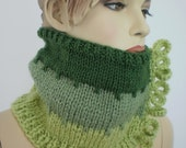 Knit Scarf,Hand Knit Cowl Scarf for Women Girl - Neck Warmer - Winter Accessories -Gift for her