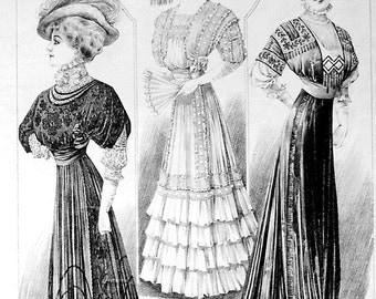 Women and Children's Edwardian Fashion Page - Hula Hoop