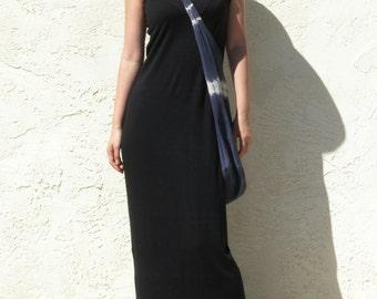 Tank Top Maxi Dress-Black Jersey