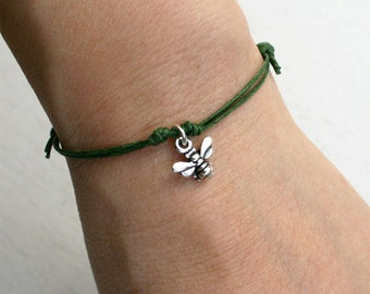 Honey Bee Bracelet / Honey Bee Anklet (many color to choose)