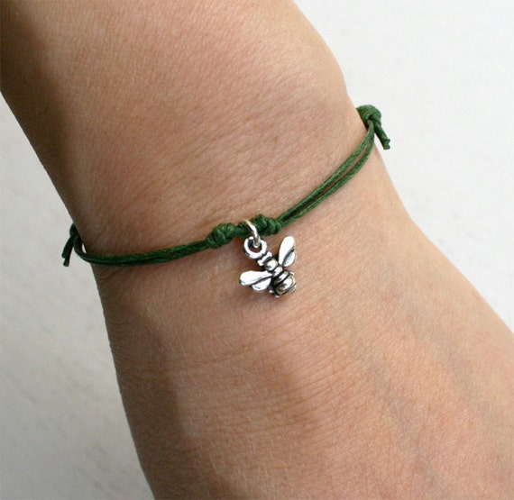 Honey Bee Bracelet / Honey Bee Anklet many color to choose
