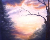 Original Pastel Painting - Evening Of The Fourth Day - 16 x 20