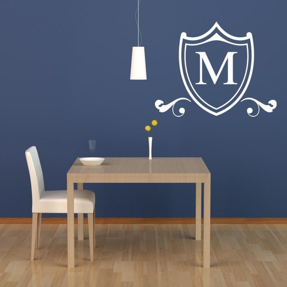 Etsy Initial Wall Decor : Items similar to monogram decal personalized wall