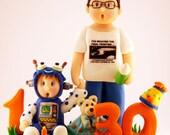 DEPOSIT - Custom Cute Family Topper and Figurine