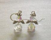 April Birthstone Angel Earrings