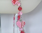 Valentine's Day Charm Bracelet - Fun and Funky Hearts