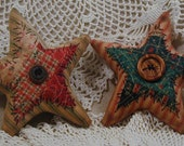 Primitive Christmas Cutter Quilt Stars Ornaments or Tucks