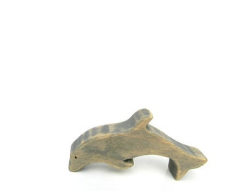 wood toy animals, dolphin wooden toy, wooden waldorf toys, dolphin figurine