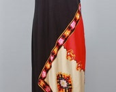 PAGANNE Vintage Dress Formal Greek Goddess Column Gown - AUTHENTIC -