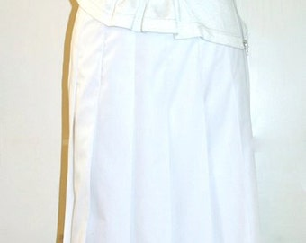 COMME DES GARCONS Vintage Dress White Eyelet Skirt and Zipper Top - Authentic -