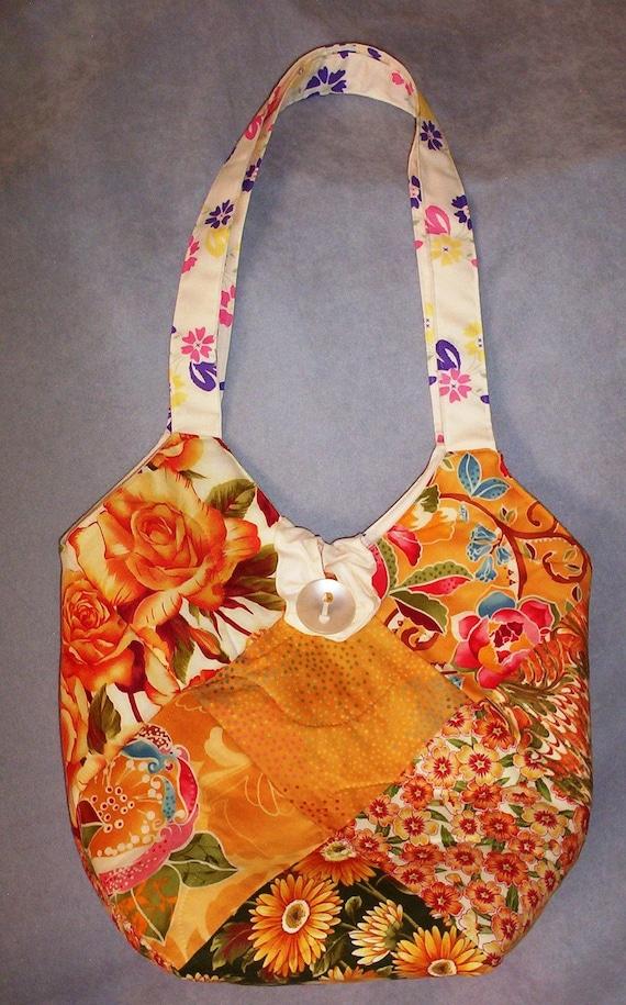 Quilted Fabric Purse Ladies Handbag Handmade Tote Bag Pet