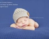 Newsboy Hat Pattern in Newborn, Baby and Toddler Sizes available for download Crochet Pattern No.206
