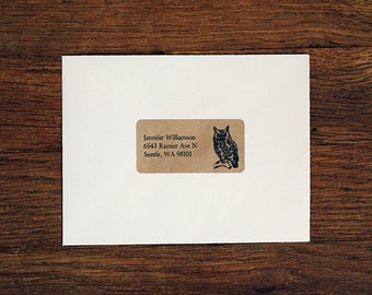 Custom Return Address Labels - Owl Address Labels
