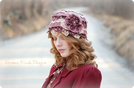 Bohemian Rag Doll Patchwork Cloche Hat