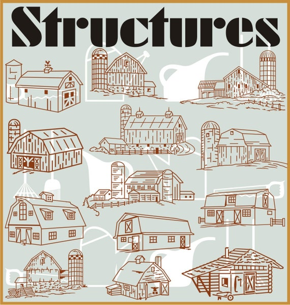 Structures (50) Vector Clipart