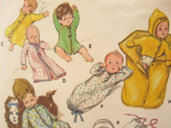 Butterick 5102 70s Baby Layette Vintage Sewing Pattern