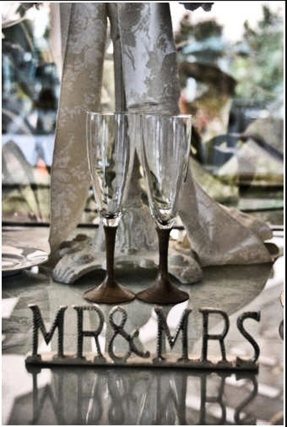 Unique handmade engraved wedding flutes with wood turned stems - Unusual champagne flutes ...