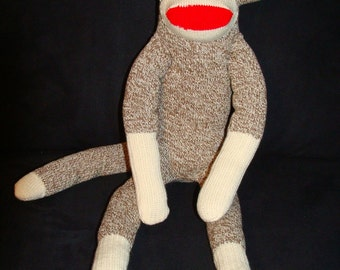 Original Red Heel Sock Monkey - Large