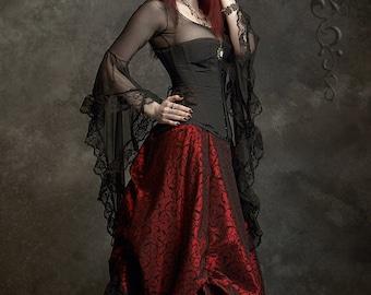 Lavinia Romantic Gothic Under-Corset Top - Fairy Tale Wedding Corset Top Handmade (Corset NOT Included)