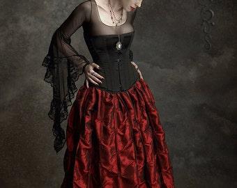 Lavinia Romantic Gothic Vampire Handmade Bespoke Delicate Mesh Top - Dark Romantic Couture by Rose Mortem