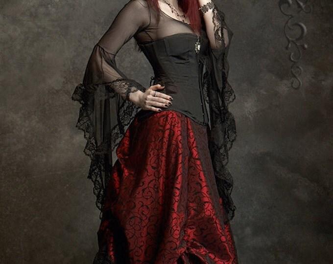 Lavinia Romantic Gothic Handmade Bespoke Delicate Mesh Top - Fairy Tale Wedding Corset Top (Corset NOT Included)