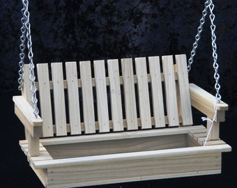Bird Feeder, wood bird feeder, swing feeder - poplar hard wood- optional personalization