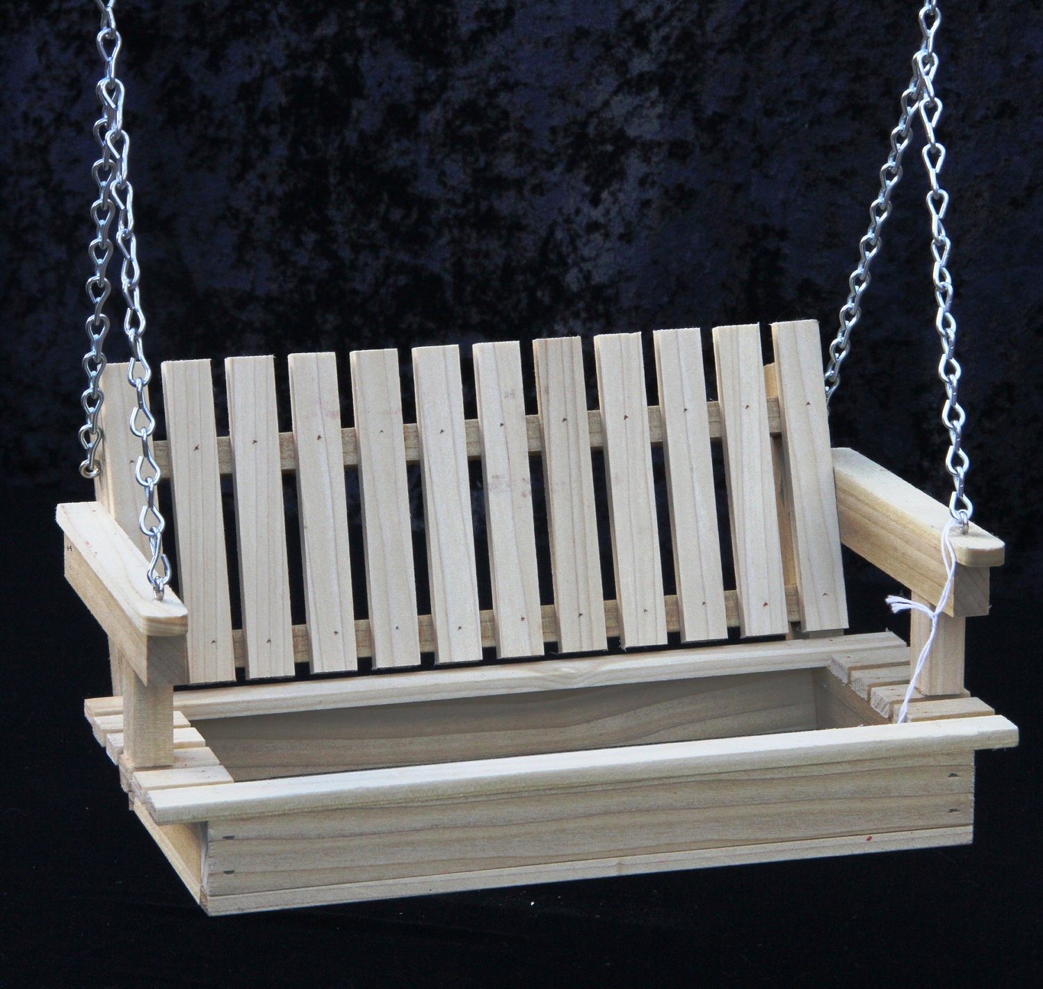 swing bird feeder cedar or poplar wood by displayinstyle