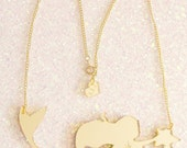 Gold Mermaid Necklace / I'm Really a Mermaid Necklace