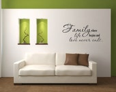 Family where life begins and love never endsVinyl Wall Decal  - Vinyl Wall Decal Quote - Family Wall Decal - Family Love Vinyl Wall Decal