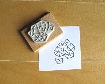Crystal Configuration 16 - Hand Carved Stamp
