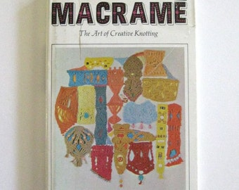 Macrame Instruction Book 1967 - Basic Macrame How to book