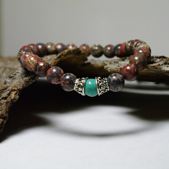 Shaman Meditation Beaded Stretch Bohemian Bracelet    -    Men's Gemstone Bracelet
